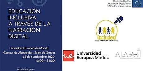Jornada sobre narración, inclusión educativa y tecnología entradas