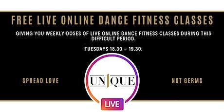 UN1QUE DANCE LIVE ONLINE DANCE FITNESS CLASS tickets