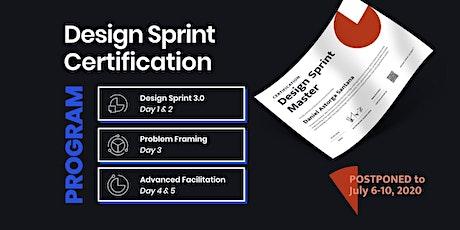 POSTPONED: Design Sprint Master Certification Program - London tickets