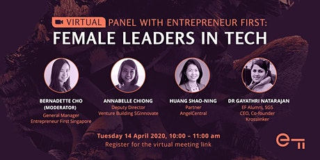 *VIRTUAL* Panel with Entrepreneur First: Female Leaders in Tech tickets