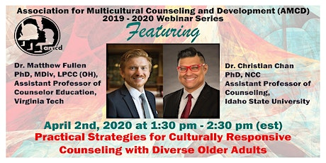 Strategies for Culturally Responsive Counseling with Diverse Older Adults tickets