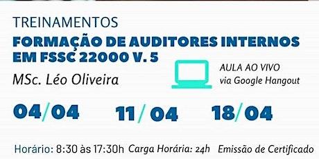 Treinamento - Formação de Auditores Internos FSSC 22000 V 5.0 bilhetes