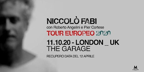 NUOVA DATA - Niccolò Fabi - Live in London - European Tour tickets