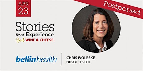 [POSTPONED] Stories from Experience with Chris Wolekse, Bellin Health tickets