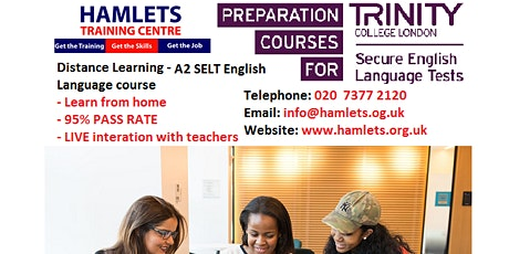 Distance  Learning - A2 GESE Grade 3 - For Further Leave to Remain tickets