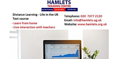 Become British with the Distance Learning - LIFE IN THE UK TEST COURSE tickets