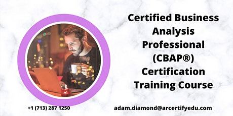 CBAP Certification Training Course in   Minneapolis,MN,USA tickets