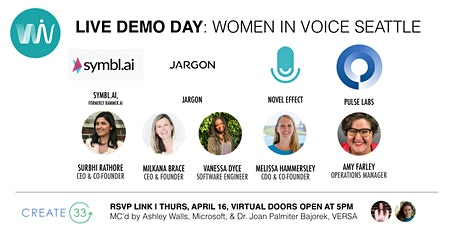Live Demo Day: Women in Voice Seattle [Now Virtual] tickets
