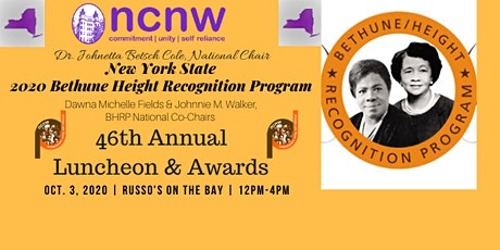 NCNW, Inc. Bethune Height Recognition ~ NYS 2020 Luncheon & Awards Program tickets