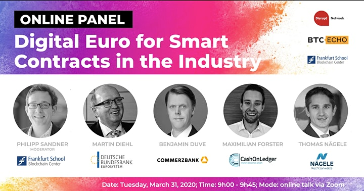 Digital Euro for Smart Contracts in the Industry (Online Panel Discussion) image
