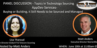 Topics in Technology Sourcing Series – AppDev Services