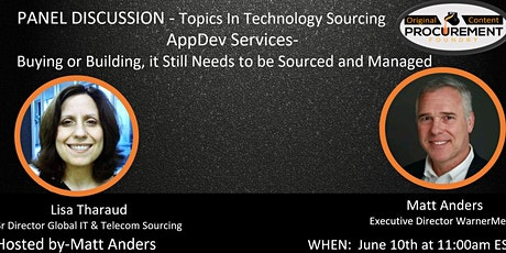 Topics in Technology Sourcing Series - AppDev Services tickets