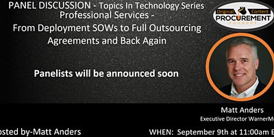 Topics in Technology Sourcing Series – Professional Services