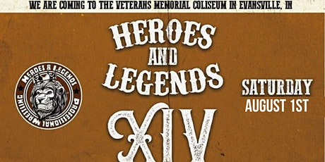 Heroes & Legends XIV Pro Wrestling at the Evansville Coliseum tickets