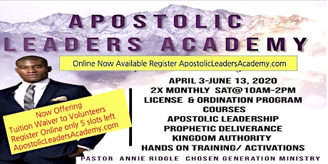 Free Apostolic Leadership Training  Academy Online & Local tickets