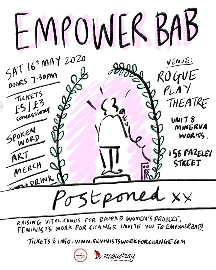 Postponed - EMPOWER BAB - A fundraiser for Baobab Women's Project image