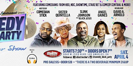 "Elliott Brothers Ent. presents Comedy Block Party ""Pre-Easter Show"" tickets"