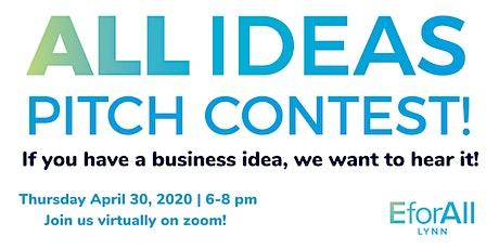 Virtual EforAll Lynn All Ideas Spring Pitch Contest tickets