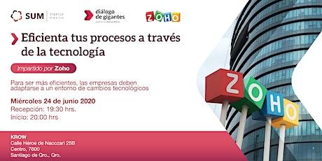 Tecnología en tus procesos impartido por ZOHO tickets