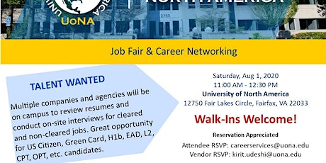 Job Fair and Networking tickets
