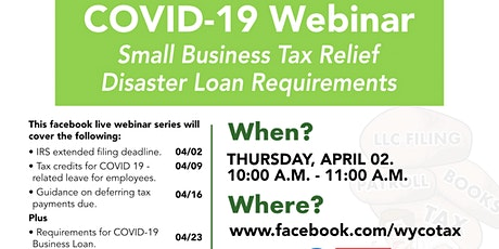 COVID-19 Tax Relief  Webinar tickets