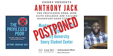 """Anthony Jack: """"The Privileged Poor"""" tickets"""