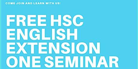 FREE HSC ENGLISH EXTENSION ONE SEMINAR biglietti