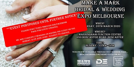 Make A Mark Bridal & Wedding Expo Doncaster - June 2020 (Event Postponed) tickets