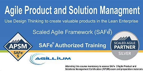 SAFe® Agile Product Management (APM), ONLINE/REMOTE Training tickets