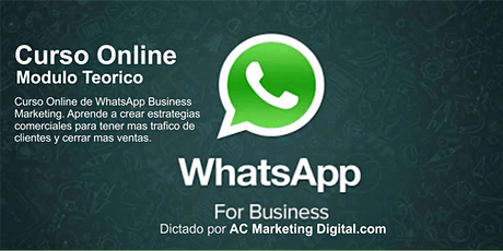 WhatsApp Business Marketing - Curso Online entradas