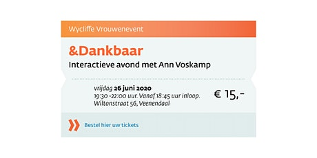 Wycliffe met Ann Voskamp tickets