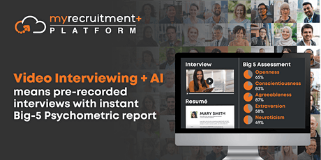 Activate Your Free Trial of AI-Psychometric extracted from Video Interviews tickets
