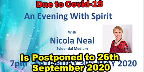 An Evening with Spirit with local Evidential Medium Nicola Neal tickets