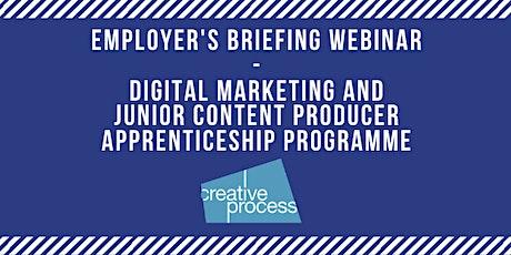 Employer's Briefing Webinar - Digital Marketing & Content Producer Apprenticeship Programme tickets