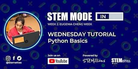 STEM MODE IN - Week 2: Wednesday Tutorial (Youtube Livestream) tickets