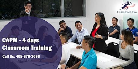 CAPM - 4 days Classroom Training  in San Diego,CA tickets