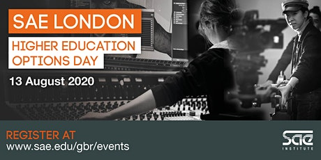 SAE London Higher Education Options Day tickets