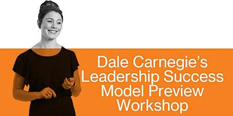 Free Live Online Virtual Workshop: Dale Carnegie's Leadership Success Model tickets