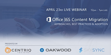 Office 365 Content Migration: Approaches, Best Practices & Adoption tickets