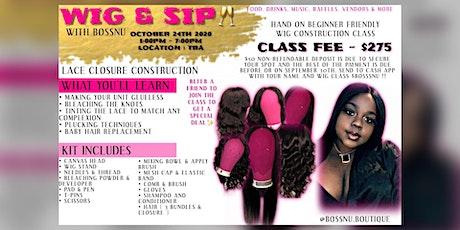 Wig & Sip Wig Class tickets