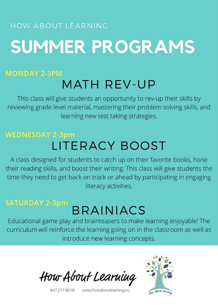 How About Learning Summer Programs image
