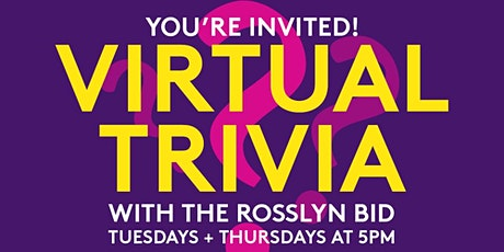 Virtual Trivia with the Rosslyn BID tickets