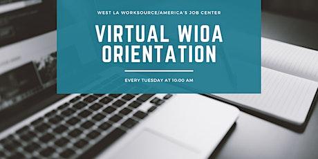 WIOA Orientation tickets