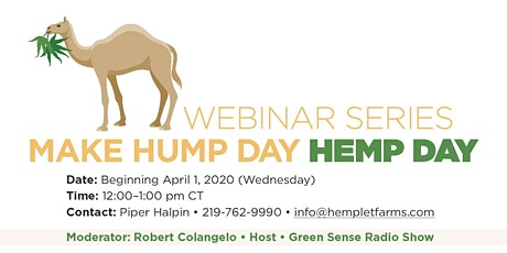 Make Hump Day, Hemp Day!  Join us for a 6-Part Webinar Series! tickets