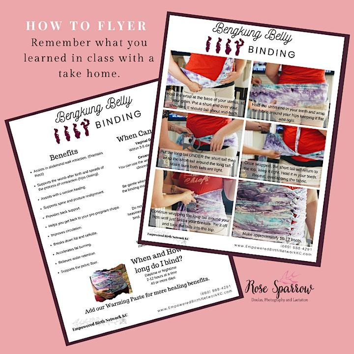 Bengkung Belly Binding for Postpartum Healing Class image