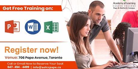 Free Microsoft Office Workshop tickets