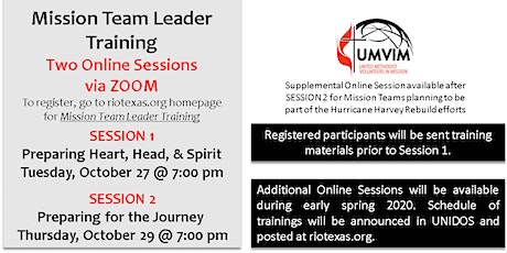 Mission Team Leader Training (October 2020) tickets