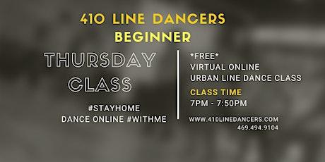 Beginner Online Line Dance Class (Thursdays) biglietti