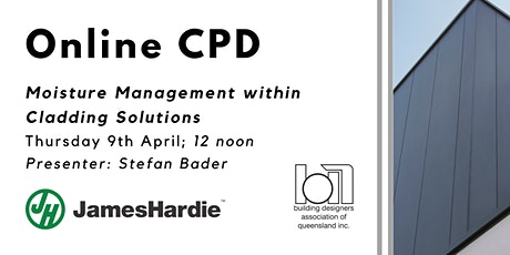 Managing Moisture with Cladding Solutions: ONLINE CPD tickets