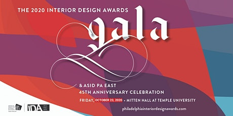 2020 Interior Design Awards Gala & ASID PA East 45th Anniversary Celebration tickets